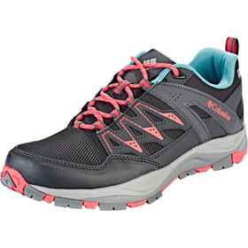 Columbia Wayfinder Outdry Schoenen Dames, black/red coral